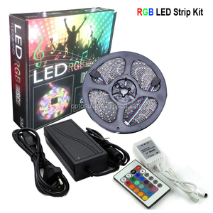 21 Color Blister Packing Controller Kit + Led Strip + Ledadaptor Blister Led Light Kit 5050 Rgb Led Strip Kit