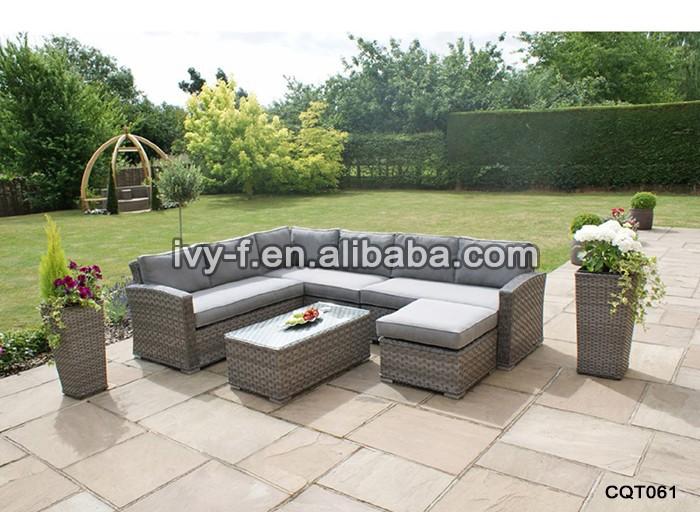 resort patio in rattan moderna l- forma divano/divano terrazza set ... - Mobili Da Giardino In Rattan Vita Moderna
