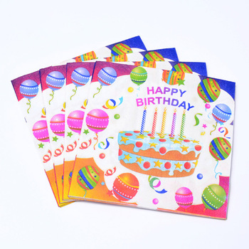 Beautiful Happy Birthday Celebration Items Decorative Party Paper Napkins  With Nice Details - Buy Paper Napkins,Party Napkins,Birthday Celebration