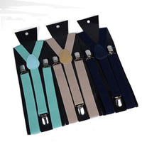 Factory supply directly high quality pure color men suspenders
