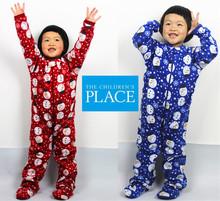 free shipping Kids sleepwear fleece romper children coverall underwear autumn winter for 4 8 years Children