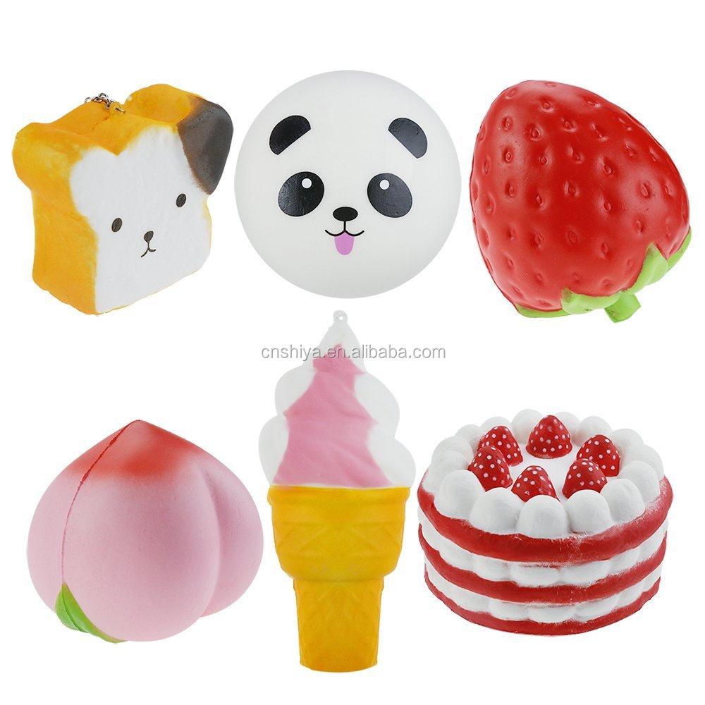 Squishy Bun Factory : Slow Rising Kawaii Squishy Licensed Buns Factory,Cake/bear/strawberry/peach/panda/ice Cream ...