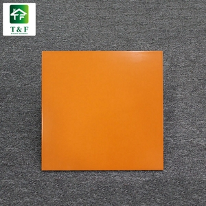 600x600 300 x 300 double coated polished porcelain floor tiles orange color glazed floor and wall tils