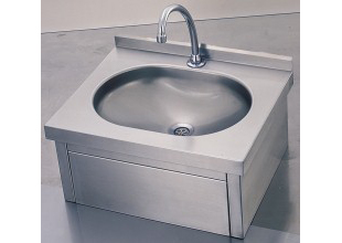 Knee Operated Hand Washing Sink Wall Mounted