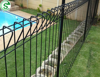 Powder coated BRC Fencing decorative wire mesh fence galvanized