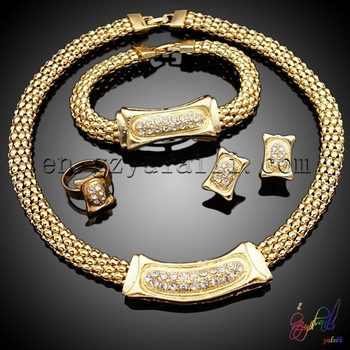 sets fashion set italian in wedding women jewellery tri item gold delicate color bracelet from african necklace wholesale jewelry