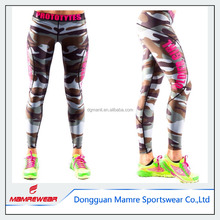 Comfortable Dye sub printed custom design womens sports compression leggings for gym