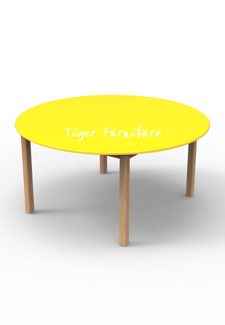 Children Mini Set Kidergarden Rubber Wooden Kids Furniture Color Round Table    Buy Kids Furniture Study Table And Chairs,School Table And Chairs Set ...