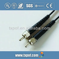 SMA connector assembly for fiber optic cable