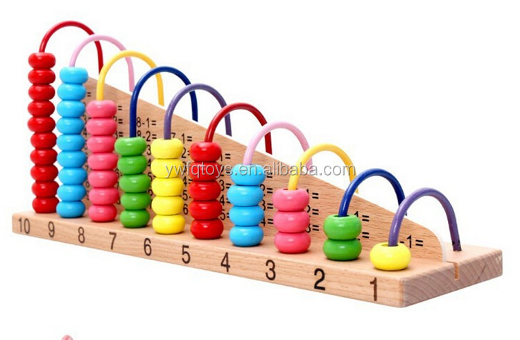 FQ brand new bead frame baby wooden abacus preschool counting calculator educational toys for children