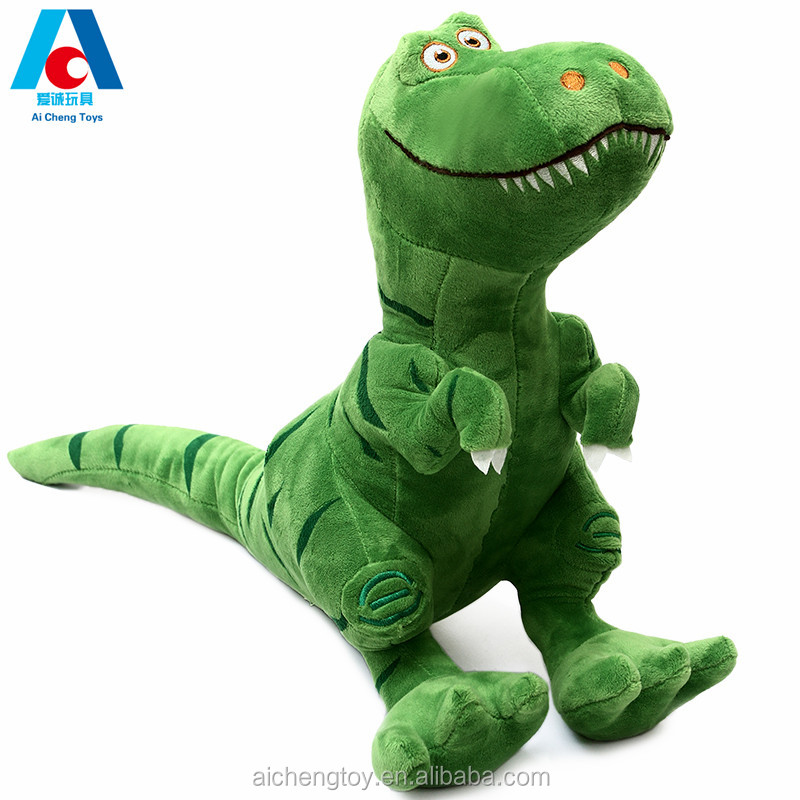 Giant Unicorn Green Dinosaur Plush Stuffed Toy For Kids And Adults