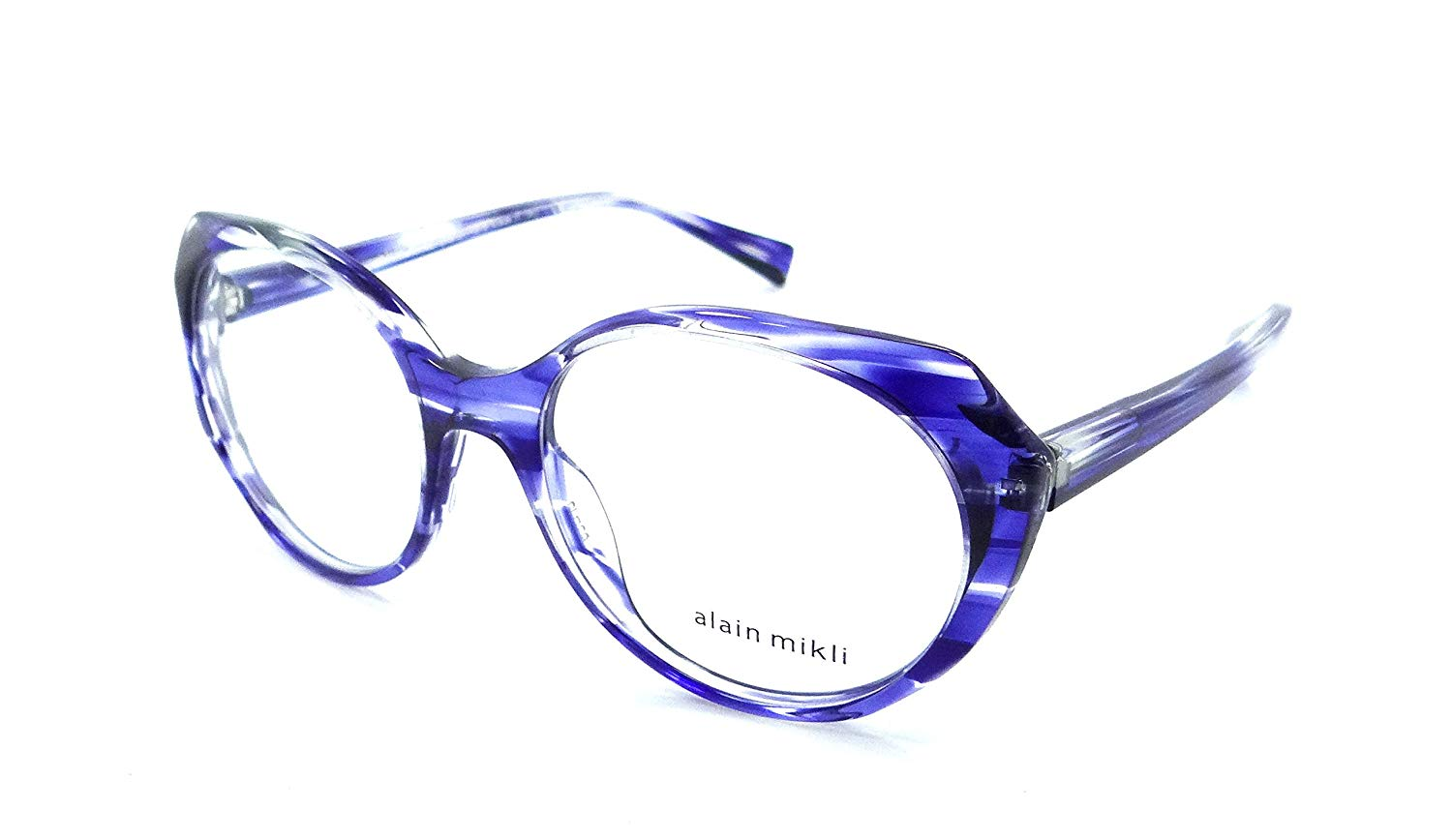 ec0c729a75a Get Quotations · Alain Mikli Rx Eyeglasses Frames A03075 004 53-18-140  Paint Blue Made in
