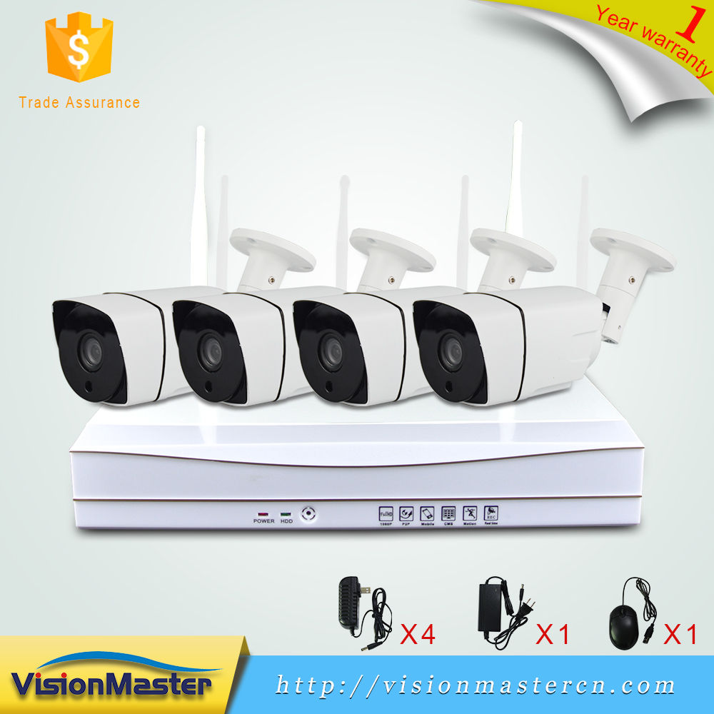 Intelligent CMOS Sensor Security Camera 4CH Wifi NVR Kit with free Accessories