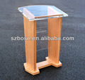 Acrylic Lectern With Wood Base,Acrylic Podiums,Plexiglass Rostrum