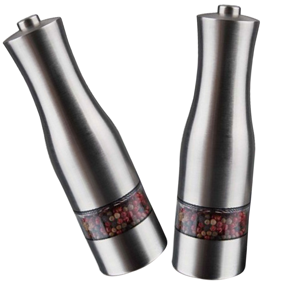 WB WFHJM07 Stainless Steel pepper shakers salt grinder bottles Electric salt and pepper grinder