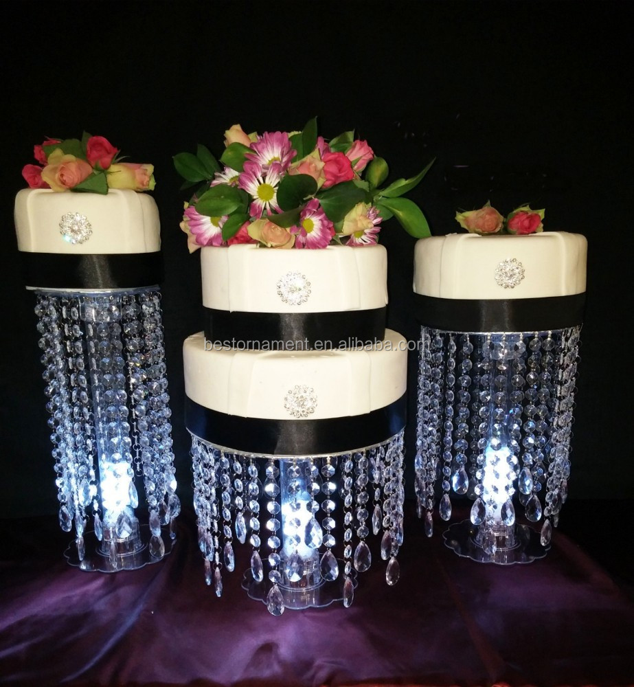 Wedding Acrylic Crystal Cake Stands Centerpiece