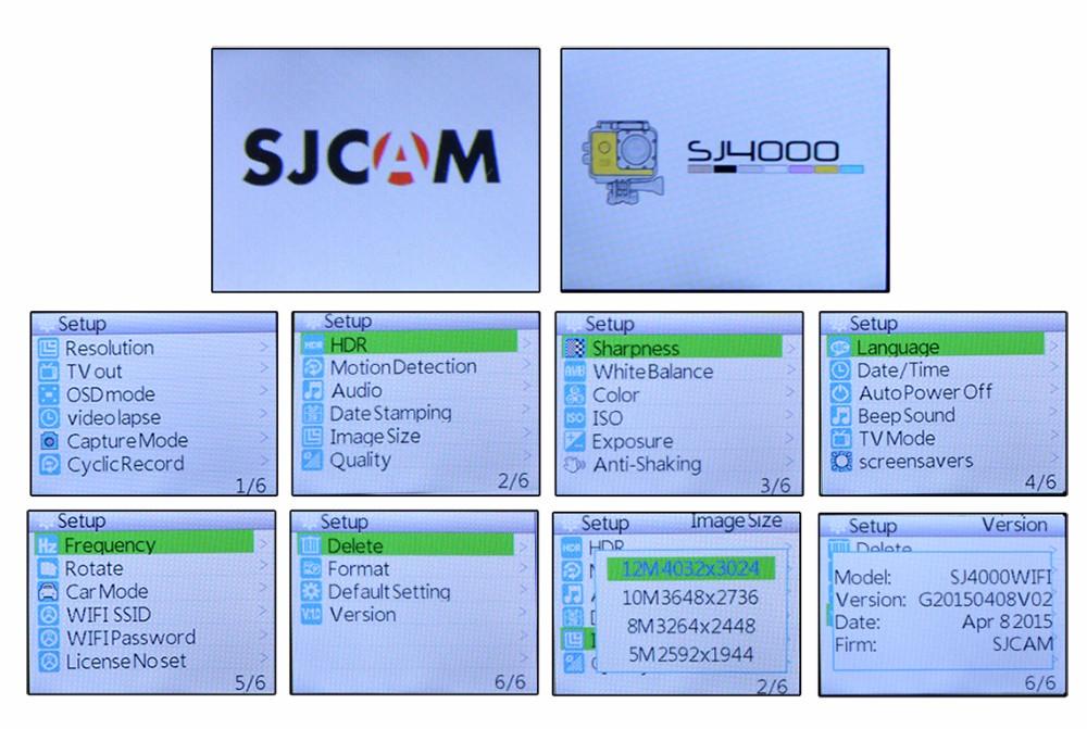 SJCAM Original SJ4000 WIFI Action Camera SJ 4000 1080P HD Sport Cam Go 30M  waterproof mini cam pro Sports cam Underwear Camera