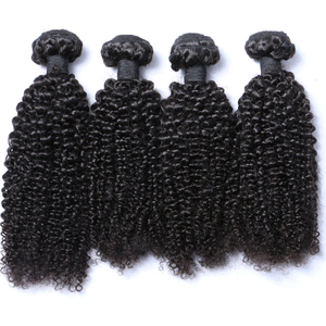 qdbl cuticle aligned 100% human mongolian virgin kinky curly hair for black women bulk hair extensions wholesale weave hair weft