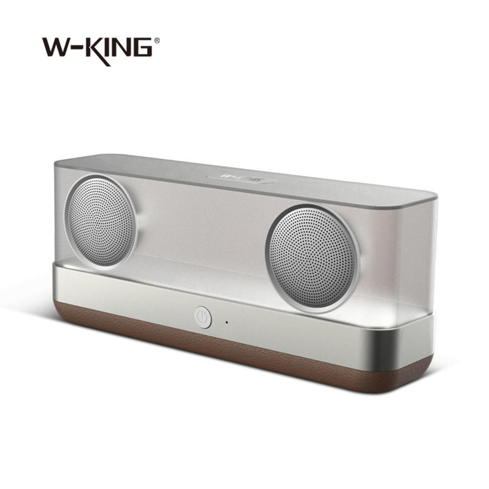 Bluetooth Speaker Cool Transparent Wireless Portable Speaker with bass reflex cabinet enhanced Stereo Sound and Bass