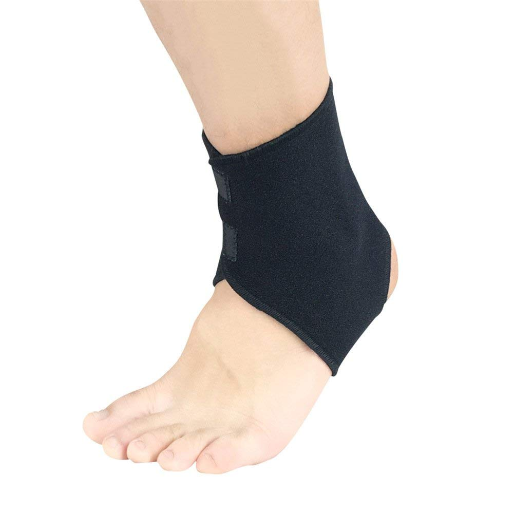 28bf887afe9a8 Get Quotations · Weelmusic 1 PC/Pack Men Women Breathable Black Adjustable  Neoprene Ankle Support Sports Safety Ankle