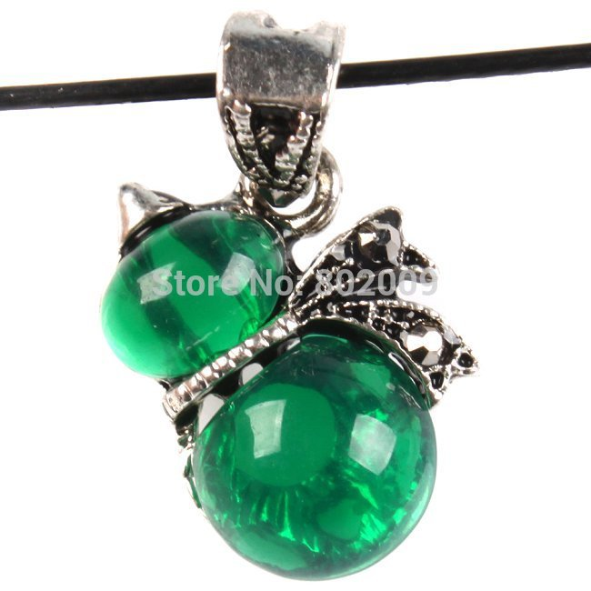 New 24pcs/lot Hot Cute Green Rhinestones Resin Cucurbits Pendant Charms Alloy Jewelry Findings 20*18*6mm 146613