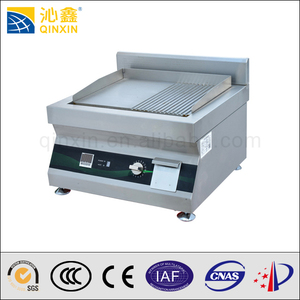 hot 5000W induction table top griddle/electric cast iron griddle