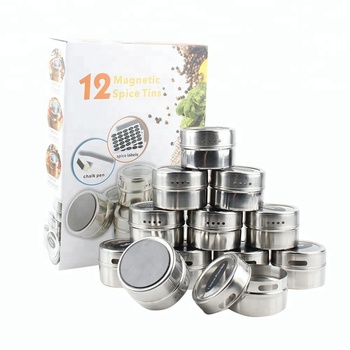 Amazon hot sales 12 16 24 Stainless Steel 싶어염 ^ ^ 및 Pepper 뜨는게 (eiffel tower) 자기 Spice Jar/magentic spice tin/ 양념 쉐이 커 틴