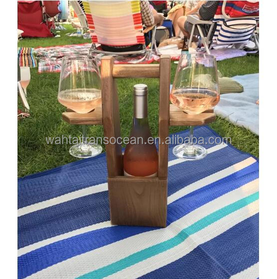 Rustic Wine Caddy/ Farmhouse Personalized Wooden Bottle Storage Beer Holder