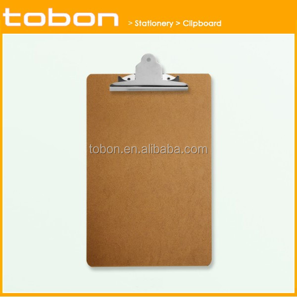 directly factory with butterfly metal clip standard wooden clipboard
