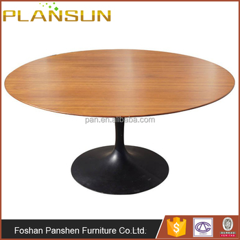 Italian Reproduction Elegant Design Dining Room Tables Pedestal Base Tulip  Wood Top Dining Table