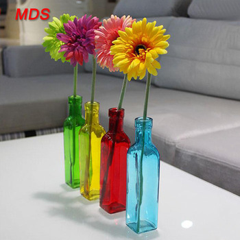 European 4 Color Recycled Gl Bottle Flower Vase Murano Gl Vase ... on windchimes from bottles, glasses from bottles, lamps from bottles, garden art from bottles, bracelets from bottles, bird feeders from bottles,