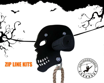 CTSC 95' Flyer Zipline with BRAKE & SEAT the Coolest ZIP LINE for children enjoy Halloween festival ZIPLINE EQUIPEMENT