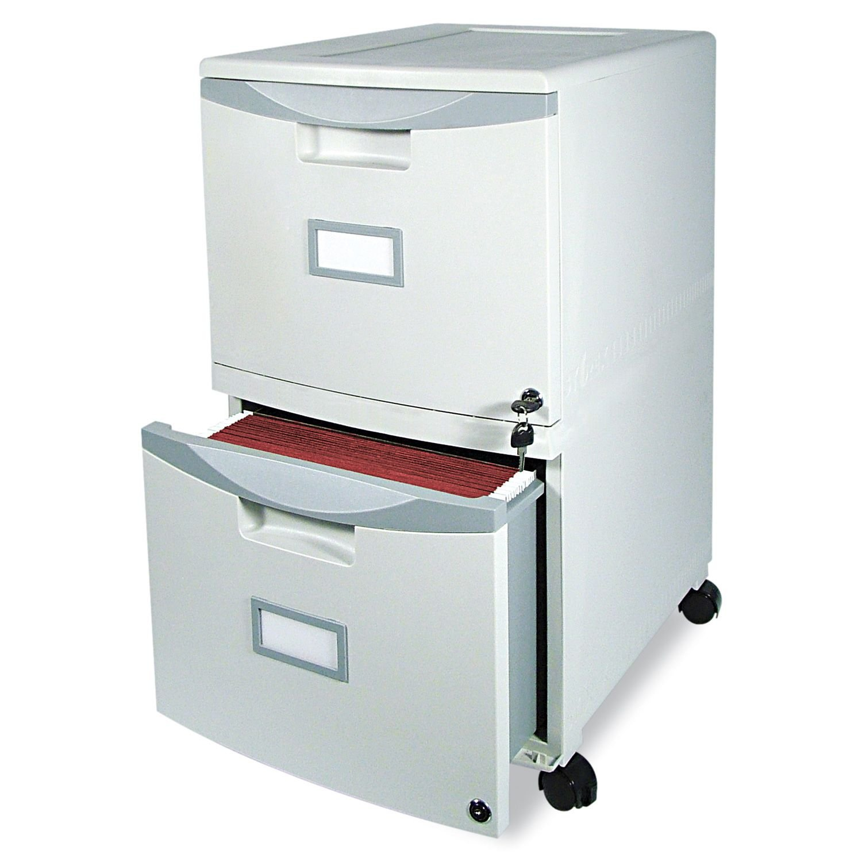 Storex - 2-Drawer Mobile Filing Cabinet- Gray- 14 3/4quot;W x 18 1/4quot;D x 26quot;H