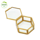 ****ATTENTION*** This box can be used for rings, jewelry, or other small treasures. *** Geometric Glass crystal jewelry box