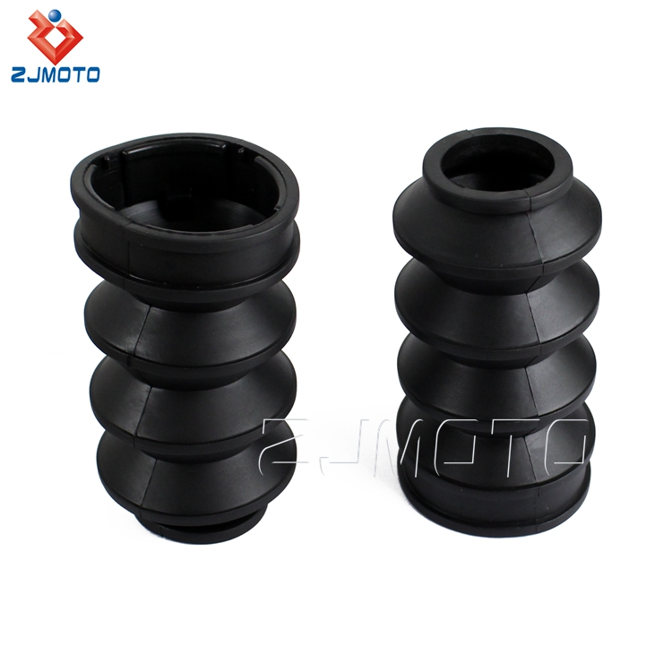 In Stock ! 39mm Black Rubber Front Fork Shock Gaiters Gators Boots For  Harley Dyna Sportster Xl883 1200 - Buy High Quality Fork Gaiters Gators
