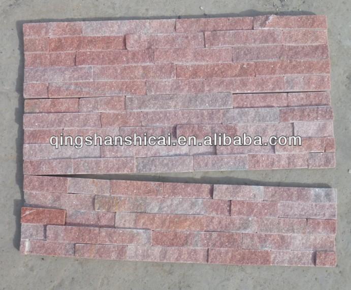 Muro quarzo rosa rivestimento ledgestone piastrelle per - Piastrelle per camino ...