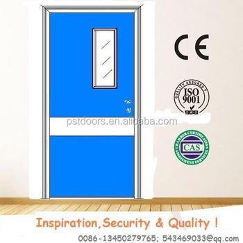 4 Panels Exterior Glass Steel Doorsteel Panel Door With Vision