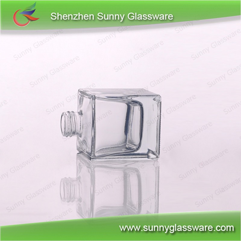 100ml Empty Square Glass Diffuser Bottles set