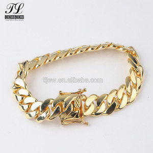 High quality bling hip hop gold men's chains and bracelets+alibaba jewellery gold plated bracelet