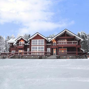 Russia Pine Wood Timber Frame Luxury Big Living House Cheap Prefab ...
