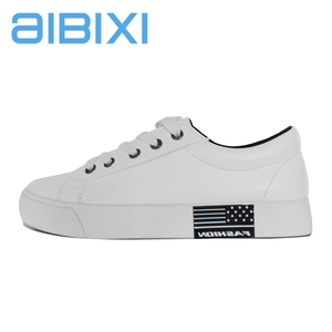 AIBIXI New Model Casual Style Milk White Flat Lady School Shoes For Lady