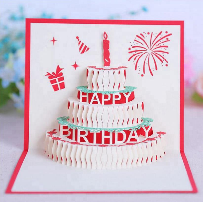 Открытки, день рождения открытки 3д
