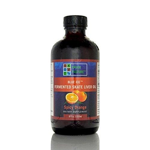 Green Pasture Blue Ice Fermented Skate Liver Oil - Spicy Orange - 8 FL Oz