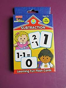 2 PACK-FISHER PRICE SUBTRACTION LEARNING FLASH CARDS AGES 5+ 36 CARDS LITTLE PEOPLE
