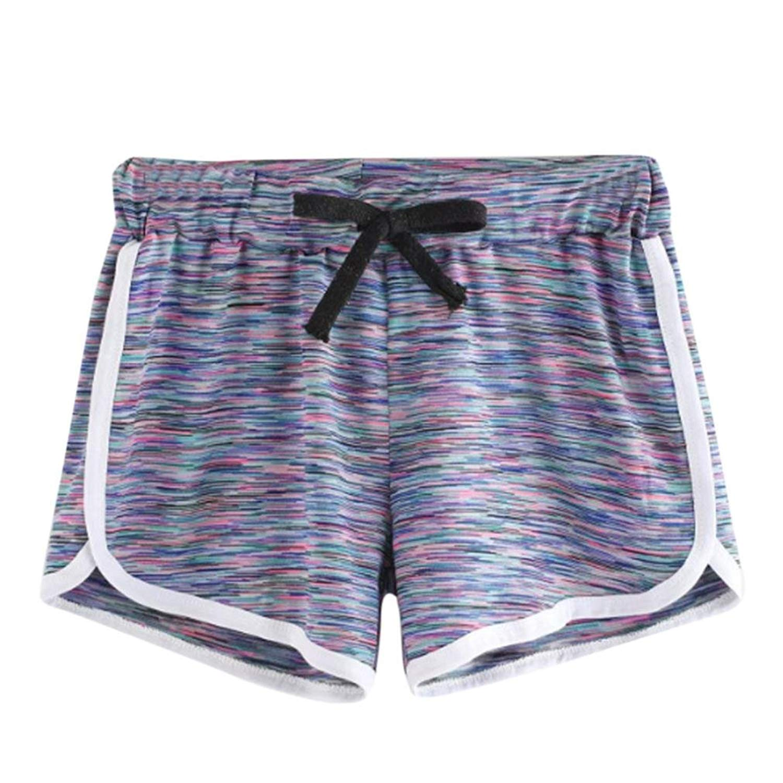 a08c288483 Get Quotations · Inkach- Womens Drawstring Shorts, Elastic Waist Summer  Casual Workout Running Yoga Short Pants Walking