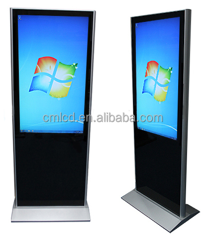 42 inch vrijstaande kiosk stand pc touch screen voor bank of hotel