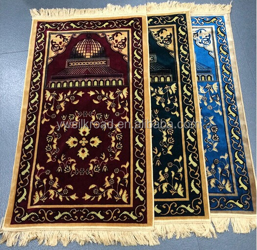 2016 new style high quality prayer mat for muslim