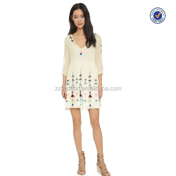 2017 Alibaba Dress Wholesale Printed Long Sleeve Batik Dress