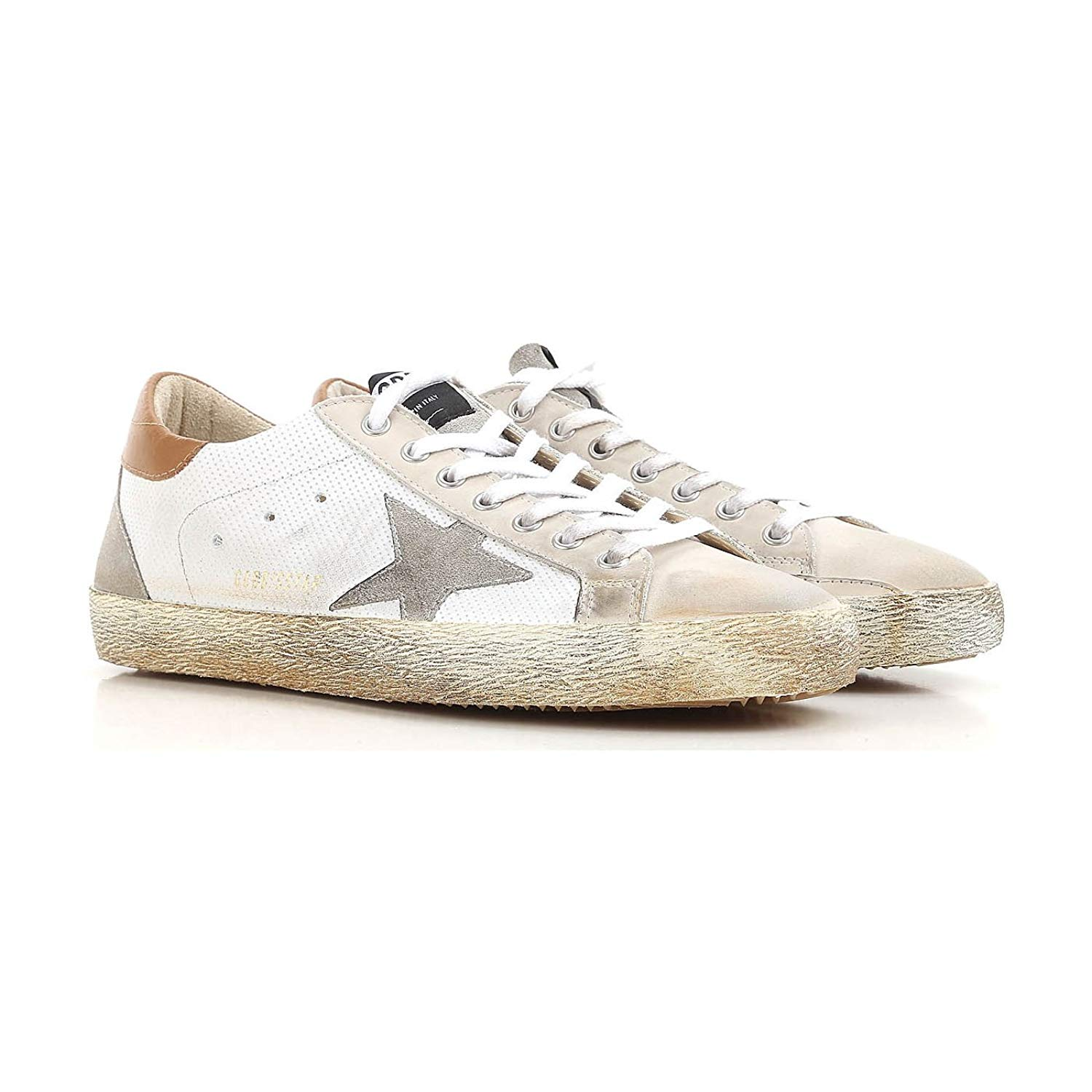 save off e8dd0 d2637 Get Quotations · Golden Goose Deluxe Brand Superstar White Spot Mens  Sneakers G32MS590.E98