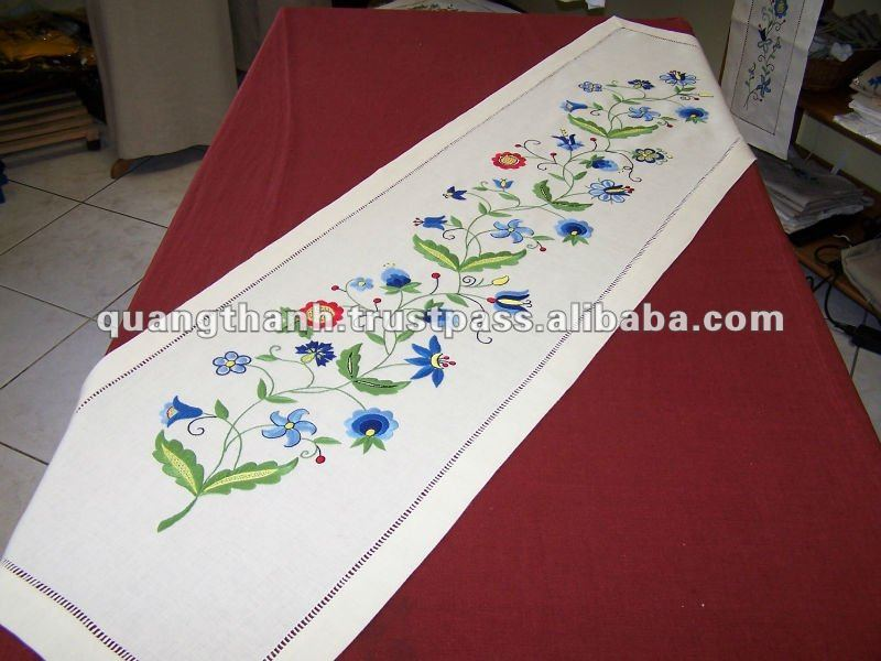 Hand Made Embroidery Table Runner Product On Alibaba